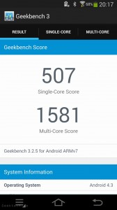 Samsung Galaxy Camera 2 geekbench