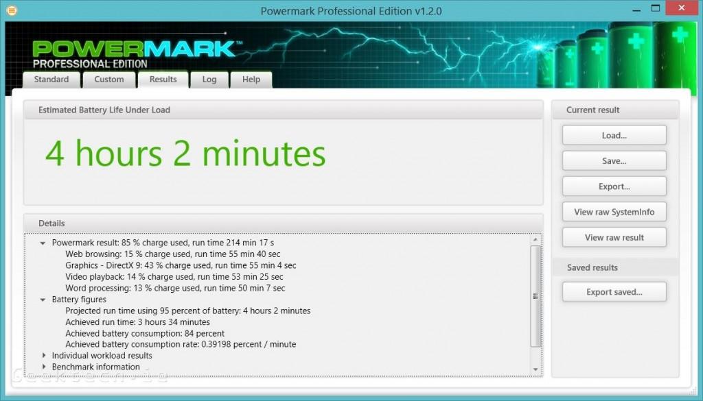 Toshiba KIRAbook PowerMark Battery test