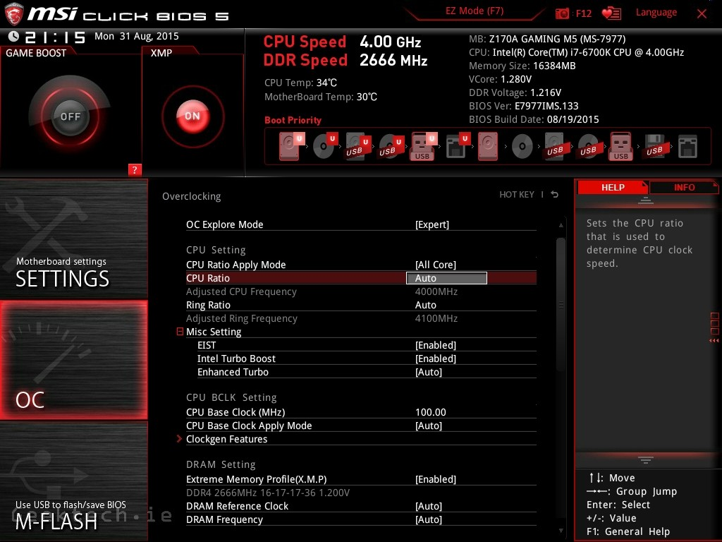 MSI Z170 Gaming M5 BIOS (5)