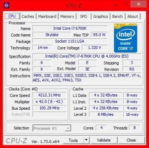 MSI Z170 Gaming M5 CPU-Z Stock