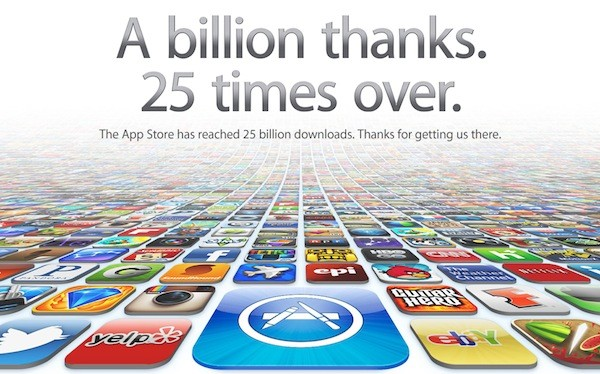 Apple's app store reaches 25 billion download milestone aapl.