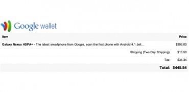 Google Wallet Jelly Bean