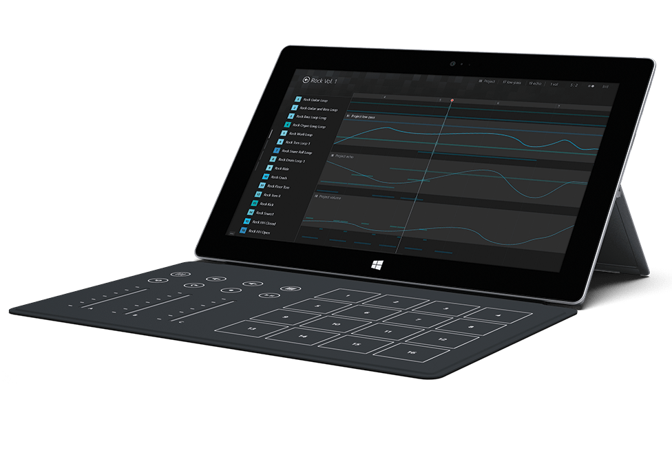 Microsoft surface music cover