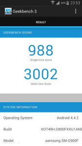 Galaxy S5 Geekbench