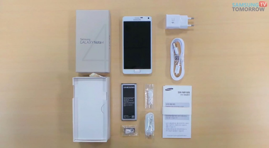 Samsung Galaxy Note 4 unboxing video